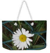 White Flower On The Fence Weekender Tote Bag