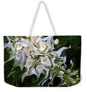 White Flowers 2 Weekender Tote Bag