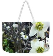 White Flowers Weekender Tote Bag