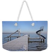 White Frost Slide Weekender Tote Bag