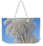 White Frost Tree Weekender Tote Bag