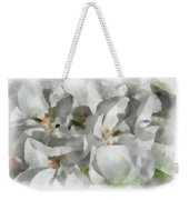 White Geraniums - Watercolor Weekender Tote Bag