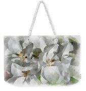 White Geraniums - Watercolor Weekender Tote Bag