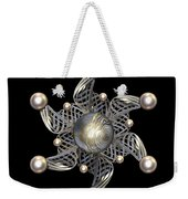 White Gold And Pearls Weekender Tote Bag by Hakon Soreide