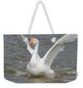 White Goose Weekender Tote Bag