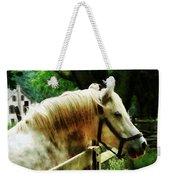White Horse Closeup Weekender Tote Bag
