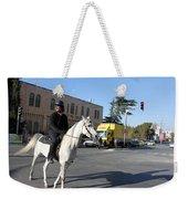 White Horse In Bethlehem Street Weekender Tote Bag