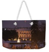 White House, From Elipse At Christmas Weekender Tote Bag