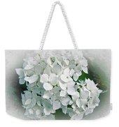 White Hydrangea Weekender Tote Bag