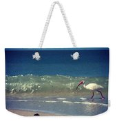 White Ibis  Weekender Tote Bag by Katie Cupcakes