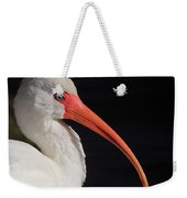 White Ibis Portrait Weekender Tote Bag