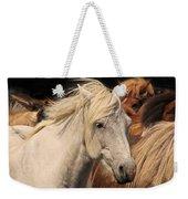White Icelandic Horse Weekender Tote Bag