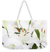 White Lilies And Background Weekender Tote Bag