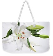 White Lily And Buds Weekender Tote Bag