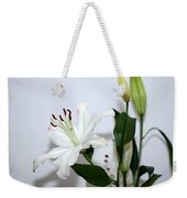 White Lily With Buds Weekender Tote Bag