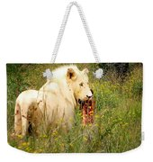 White Lion Weekender Tote Bag