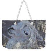 White Llama Weekender Tote Bag