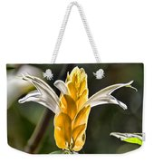 White Mixed With Yellow Weekender Tote Bag