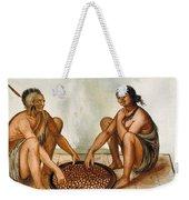 White: Native Americans Eating Weekender Tote Bag