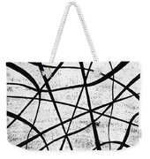 White On Black Weekender Tote Bag
