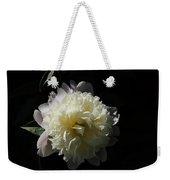 White On Black Peony Weekender Tote Bag