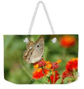 White Peacock Butterfly Weekender Tote Bag