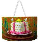 White Present Cake Weekender Tote Bag