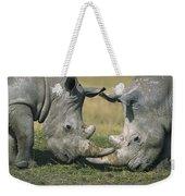 White Rhinoceros Ceratotherium Simum Weekender Tote Bag