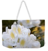 White Rhododendron Bloom Weekender Tote Bag