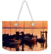 White Rock Sailboats Hdr Weekender Tote Bag