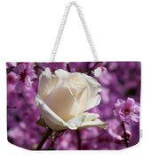 White Rose And Plum Blossoms Weekender Tote Bag