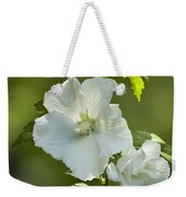 White Rose Of Sharon Weekender Tote Bag by Teresa Mucha