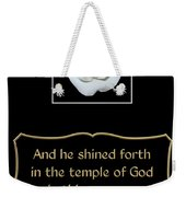 White Rose With Bible Verse From Sirach Weekender Tote Bag