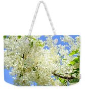 White Shower Tree Weekender Tote Bag