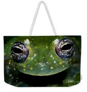 White Spotted Glass Frog Weekender Tote Bag