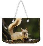 White Squirrel Weekender Tote Bag