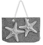 White Starfish In Black And White Weekender Tote Bag