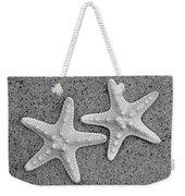 White Starfish In Blackaand White Weekender Tote Bag