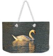 White Swan At Sunset Weekender Tote Bag