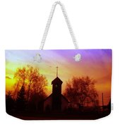 White Swan Church In The Sunset Weekender Tote Bag
