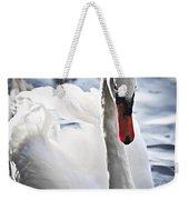 White Swan Weekender Tote Bag by Elena Elisseeva