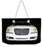 White  Three  Hundred  Limited  In  Black  Weekender Tote Bag