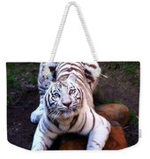 White Tiger 2 Weekender Tote Bag