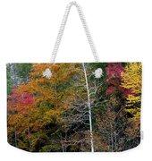 White Tree Fall Colors  Weekender Tote Bag