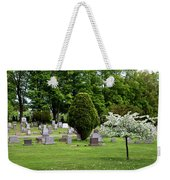 White Tree In Cemetery Weekender Tote Bag