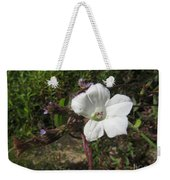 Small White Morning Glory Weekender Tote Bag