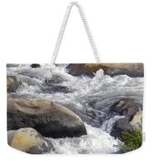 White Water Composition Weekender Tote Bag