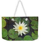 White Water Lily Weekender Tote Bag by Andee Design