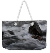 White Water Rushes Over Rocks Weekender Tote Bag