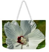 White Wildflower I Weekender Tote Bag